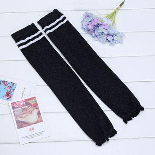Striped Over-the-knee Leg Warmers