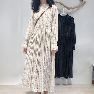 Bell-sleeve Mid Floral Chiffon Dress