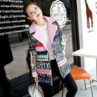 Printed Padded Buttoned Coat