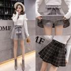 Plaid Mini A-line Mini Skirt