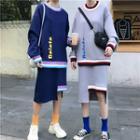 Long Sleeve Pullover + Skirt
