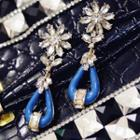 Flower Earrings As Figure - One Size