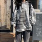 Striped Long-sleeve Hoodie