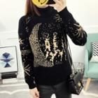 Turtleneck Printed Sweater
