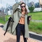 Bow Accent Long Jacket