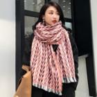Patterned Fringed Knit Scarf