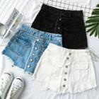 Mock-two Denim Skort