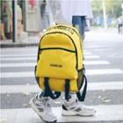 Lettering Buckled Backpack