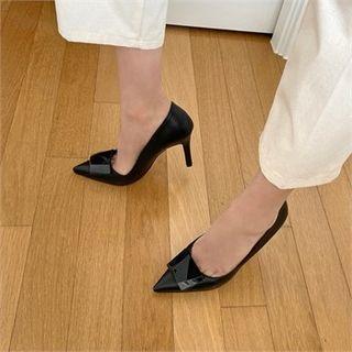 Pointy-toe Bead-accent Stilettos