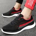 Contrast Trim Knitted Sneakers