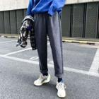 Houndstooth Straight-leg Pants