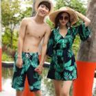 Couple Matching Tankini / Beach Cover-up / Swim Shorts / Set