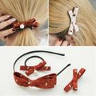 Bow-accent Hair Band / Hair Tie / Hair Clip