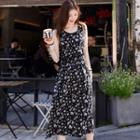 Sleeveless Floral Print Long Dress