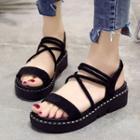 Strappy Slingback Platform Sandals