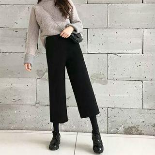 Set: Turtleneck Sweater + Cropped Wide Leg Pants