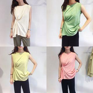 Knotted Plain Tank Top