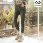 Plus Size Washed Skinny Jeans