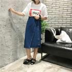 Irregular Denim Skirt