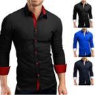 Contrast-button Shirt