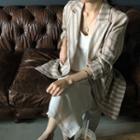 Double-breasted Stripe Linen Blazer