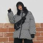 Checked Zip Padded Jacket