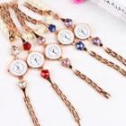 Jeweled Flower Bracelet Watch