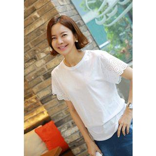 Perforated Sleeve Top