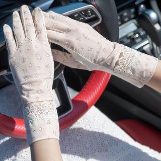 Lace Trim Gloves