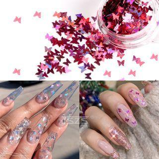 Plastic Butterfly Nail Art Decoration
