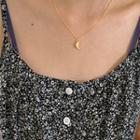 Crescent Pendant Chain Necklace Gold - One Size