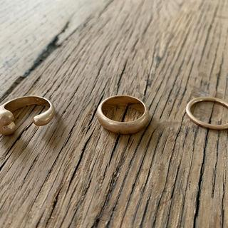 Stacking Band Ring Set Of 3 Gold - One Size