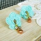 Green Lace Flower Earrings