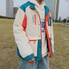 Hooded Colored Panel Jacket