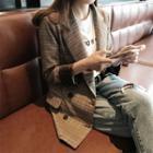 Notched-lapel Buttoned Plaid Blazer