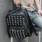 Faux-leather Studded Backpack