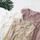 Peter Pan-collar Lace Shirt