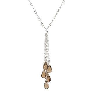 Silver Smoky Quartz Necklace