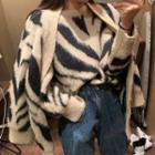 Zebra Print Cardigan / Sweater