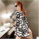 Long-sleeve Pattern Dress
