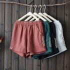 Patterned Panel Basic Shorts