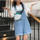 Rolled Dungaree Shorts