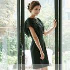 Lace-panel Flutter-sleeve Dress