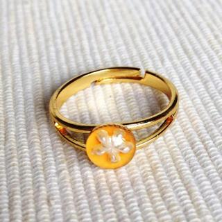 Resin Little Snowflake Ring (light Orange) One Size