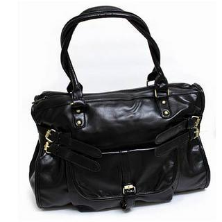 Faux-leather Buckled Tote