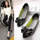Bow Patent Pointy-toe Flats