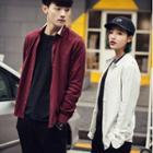 Couple Matching Contrast Collar Shirt