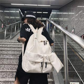 Multi-section Canvas Backpack