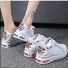 Embroidered Mesh Panel Sneakers
