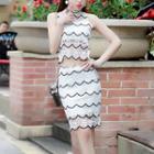 Set: Lace Tank Top + Lace Pencil Skirt